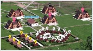 Схема расположения основных домиков